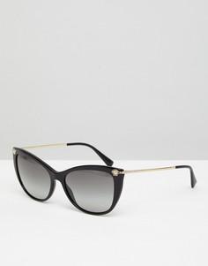 Черные солнцезащитные очки кошачий глаз Versace 0VE4345B - 57 мм - Черный