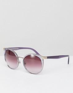 Розовые круглые солнцезащитные очки Versace 0VE2185 - 54 мм - Розовый