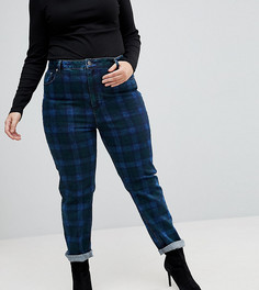 Узкие джинсы в винтажном стиле в клетку ASOS CURVE FARLEIGH - Мульти