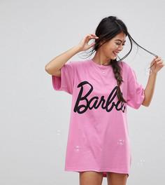 Футболка для сна ASOS PETITE Barbie - Розовый