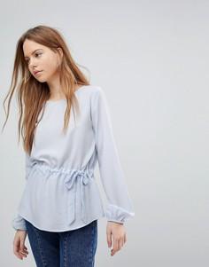 Блузка с присборенной талией Vila - Синий