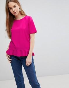 Блузка с баской Vila - Розовый