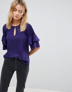 Блузка с ярусными рукавами Vila - Синий