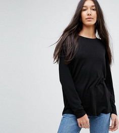 Оверсайз-футболка с рукавами летучая мышь ASOS TALL - Черный