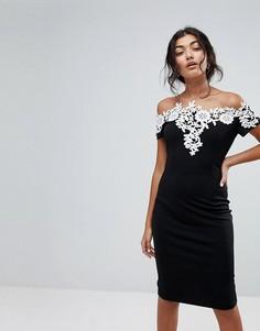Платье с открытыми плечами Paperdolls - Мульти