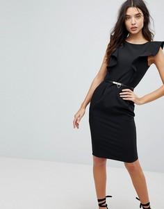 Платье-футляр с рюшами Paperdolls - Черный