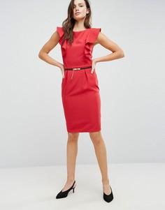 Платье-футляр с оборкой Paper Dolls - Красный