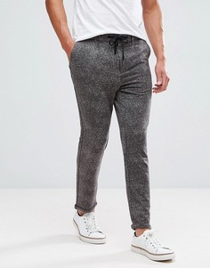 Строгие брюки с принтом Jack & Jones Intelligence - Серый