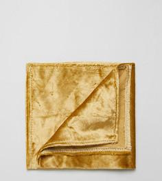 Платок для нагрудного кармана из мятого бархата Noose & Monkey - Золотой
