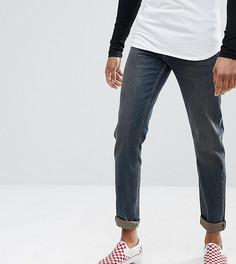 Темные эластичные узкие джинсы ASOS TALL - Синий