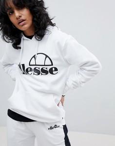 Худи бойфренда с логотипом на груди Ellesse - Белый