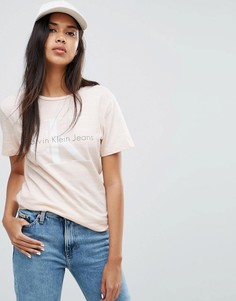 Футболка с логотипом Calvin Klein Jeans - Кремовый