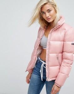 Блестящий пуховик Tommy Jeans - Розовый