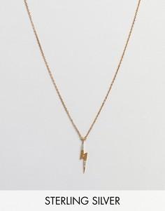 Ожерелье с подвеской в виде молнии Carrie Elizabeth - Золотой