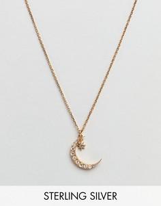 Ожерелье с подвеской-полумесяцем Carrie Elizabeth - Серебряный