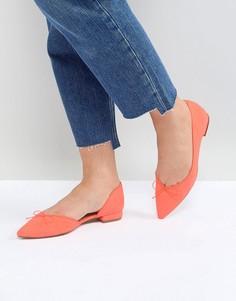 Балетки с острым носком ASOS LEGENDARY - Оранжевый