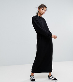Платье макси с капюшоном ASOS TALL - Черный
