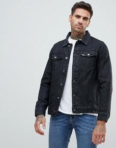 Черная выбеленная джинсовая куртка Ascend - Черный