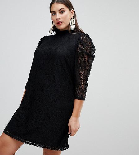 Кружевное платье мини с объемными рукавами ASOS CURVE - Черный