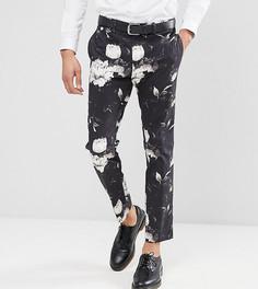 Облегающие укороченные брюки с принтом ASOS TALL - Черный