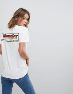 Футболка с логотипом сзади Wrangler - Белый