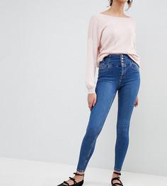 Синие джинсы скинни с завышенной талией New Look Tall - Синий