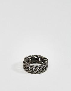 Кольцо-цепочка с крупными звеньями Steve Madden - Серебряный