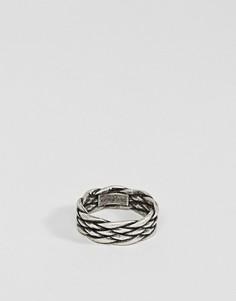 Плетеное кольцо Steve Madden - Серебряный