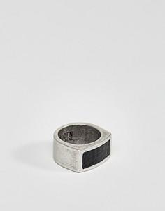 Кожаное кольцо Steve Madden - Серебряный