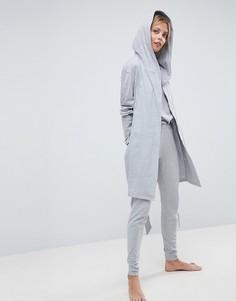 Комбинируемый халат с капюшоном ASOS - Серый