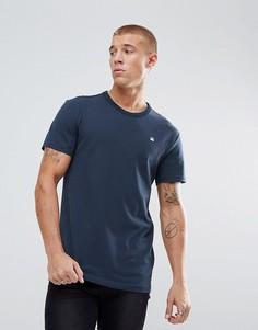 Темно-синяя футболка с логотипом G-Star - Темно-синий