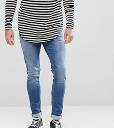 Выбеленные джинсы скинни Nudie Jeans Co - Синий