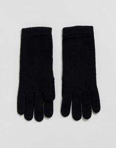 Черные перчатки из 100% кашемира Johnstons of Elgin - Черный