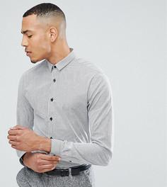 Облегающая рубашка в полоску Heart & Dagger TALL - Черный
