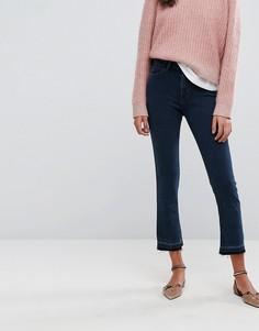 Расклешенные джинсы с пуговицами сзади Esprit - Синий