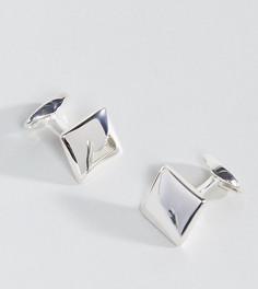 Серебряные квадратные запонки (черный/серебристый) Fred Bennett - Черный