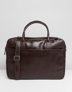 Кожаная сумка для ноутбука с одним отделением Royal RepubliQ Explorer - Коричневый