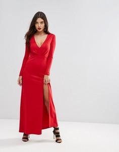 Платье макси с разрезом Ivyrevel - Красный