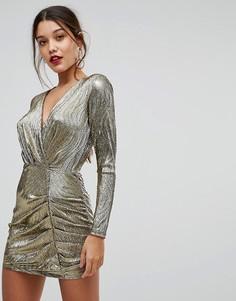 Платье с драпировкой Ivyrevel - Золотой