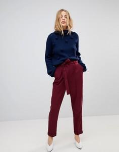 Тканые широкие брюки с поясом-оби ASOS - Красный