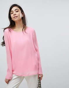 Плиссированная блузка Soaked In Luxury - Розовый