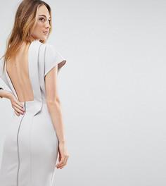 Соблазнительное платье мини с открытой спиной ASOS TALL - Серый