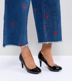 Лакированные туфли-лодочки для широкой стопы с круглым носком New Look - Черный