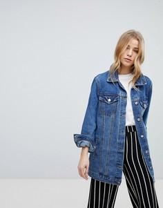 Длинная джинсовая куртка New Look - Синий