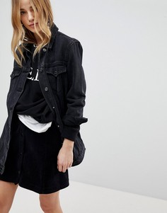 Длинная джинсовая куртка New Look - Черный