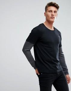 Лонгслив с двойными рукавами Esprit - Черный