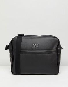 Черная сумка на плечо из сафьяна Fred Perry - Черный