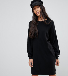Трикотажное оверсайз-платье с круглым вырезом ASOS TALL - Черный