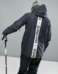 Лыжная куртка с принтом DC Shoes - Черный