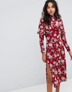 Платье миди с цветочным принтом Flynn Skye - Красный